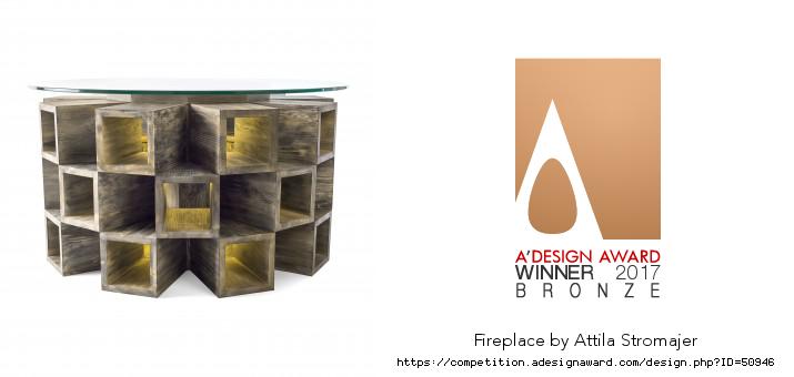 A'Design Award 2017 – Fireplace